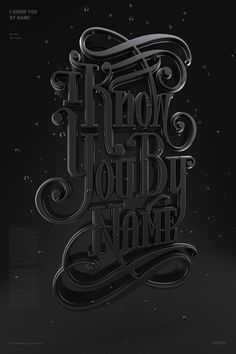 I Know You by Name by Christopher Vinca #maxon #vray #cinema #poster #4d #3d #typography