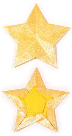 How to make a 2D five-pointed origami star (http://www.origami-make.org/howto-origami-star.php)