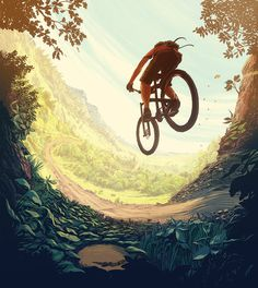 Summer Ride #ride #warm #illustration #bike #summer #perfect