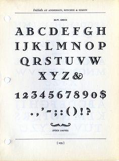 Greco type specimen