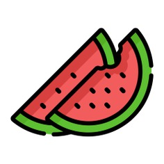 See more icon inspiration related to watermelon, food, fruit, organic, vegan, healthy food, diet and vegetarian on Flaticon.