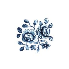 Image #floral #illustration #tattoo #flower #blue