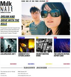Milk Made Weekly #subscribe #weekly #design #emailer #made #milk #newsletter