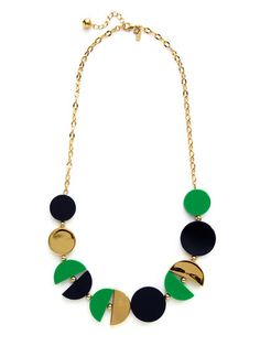 kate spade new york Green #green #spade #gold #necklace #kate