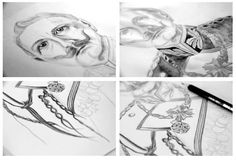 BEHIND THE UNKNOWN on Behance #wilhelm #imperator #ii #illustration #realistic #pencil #detail
