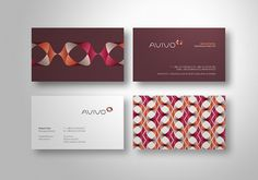 Avivo Corporate Identity on the Behance Network #logo #pattern #minimal #repeat
