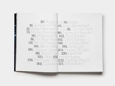 Table of contents #typography #table of contents