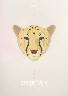 Big Cats - Hadrien Degay Delpeuch #vector #cheetah #cat #paper #illustration #minimal #animal #8bit