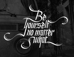 Be Yourself - Lettering by Ali Naguib #lettering #calligraphy #hand lettering