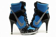Nike Dunk SB High Heels Black/Blue #shoes