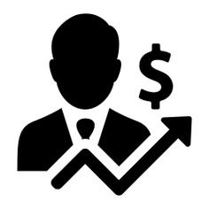See more icon inspiration related to businessman, worker, manager, line chart, people and dollar symbol on Flaticon.