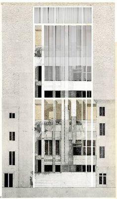 Beniamino Servino — Padiglione Italia. Innesti/ Grafting - Ambienti taglia e incolla #architecture #drawings #facades