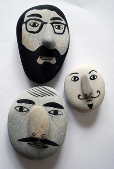 >> #stones #faces #mustache