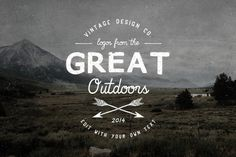 Logos from the Great Outdoors #logo design #inspiration #retro #vintage