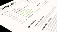 Grid Resume & Cover Letter Set | BrandPress Co.