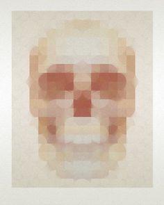FFFFOUND! #illustration #skull #pixel #blur #image