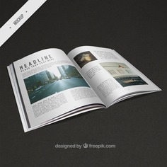 Modern mockup of magazine Free Psd. See more inspiration related to Brochure, Flyer, Mockup, Business, Template, Brochure template, Magazine, Leaflet, Text, Flyer template, Stationery, Mock up, Modern, Data, Booklet, Report, Information, Magazine template, Up, Image, Pictures and Mock on Freepik.