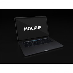 Black laptop mockup diagonal view Free Psd. See more inspiration related to Mockup, Technology, Computer, Mobile, Laptop, Black, Work, Web, Digital, Mock up, Modern, Tech, Open, Keyboard, Electronic, Macbook, View, Up, Diagonal, Equipment, Mock and Portable on Freepik.
