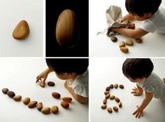Wooden Pebbles - Taku Satoh #japan #stone #design #wood #toy