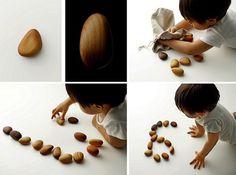 Wooden Pebbles - Taku Satoh #japan #stone #design #wood #toy