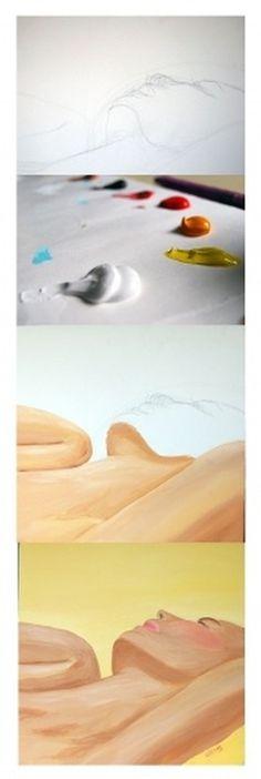 Paintings : Adrineh Asadurian #color #painting #process