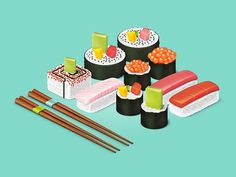 Illustration sushi #sushi #japan