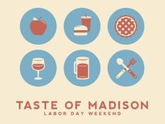 Dribbble - Taste of Madison Icons by Justin Blumer
