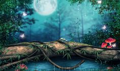 Fantasy Forest Tree Bridge Hd High Wallpaper – WallpapersBae