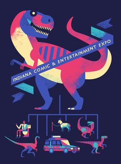 Indiana Comic & Entertainment Expo - Owen Davey Illustration #illustration #design #poster