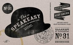 aris goumpouros #stamp #black #bar #identity #vintage #speakeasy #logo #typography