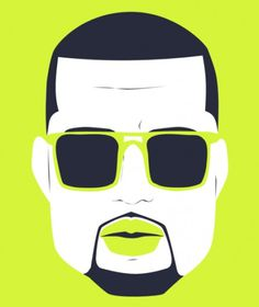 Michael Arnold - Illustration + Design #west #pop #kanye #illustration #portrait #art #music
