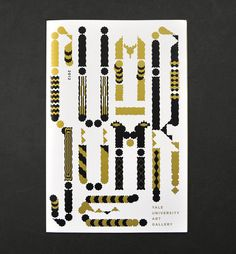 Atelier Müesli – Design graphique #abstract #form #mã¼esli #experimental #yale #gold #typography