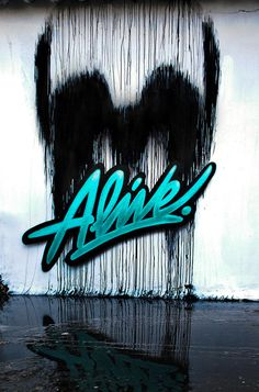 Designersgotoheaven.com Alive. (by Unknown) #paint #alive #spray