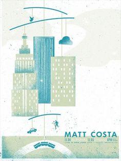 GigPosters.com - Matt Costa - Everest #illustration #texture #gig poster