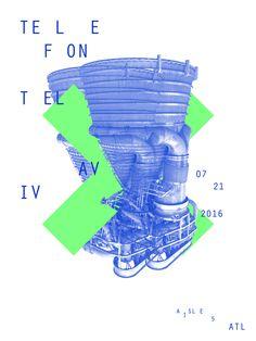 Telefon Tel Aviv #concertposter #telefontelaviv #poster #concert #show