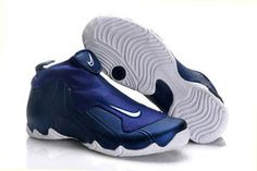 nike air flightposite one navy blue and royal blue and white men basketball shoes