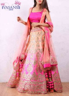 Vasansi Traditional Pink Art Silk Lehenga