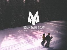 Design Diner #mountain #logo #design #goat