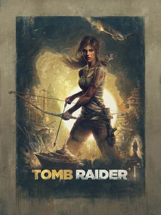 """Tomb Raider"" by Sam Spratt #illustration #color #art"