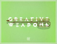 Creative Weapons on behance #line #grzunov #machete #lapiz #illustration #type #pencil