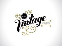 design work life » Chandelarrow Creative: New Vintage Beauty Lounge #type #vintage
