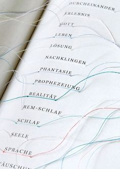 Hyperlinks Book | Fubiz™ #hyperlink #editorial #book #embroidered