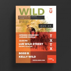 Wild life flyer Free Psd. See more inspiration related to Background, Pattern, Brochure, Flyer, Poster, Business, Abstract, Technology, Template, Geometric, Light, Brochure template, Wallpaper, Leaflet, Space, Art, Digital, Flyer template, Stationery, Poster template, Modern, Booklet, Tech and Dark on Freepik.