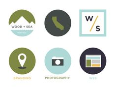 Wood + Sea Co. – Simple Icons #icons #flat