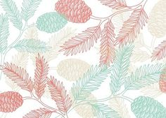 Christina Hart #pattern #floral #natural #pine #green