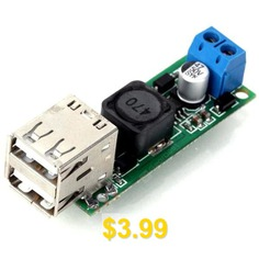 DIY #DC #6 # #- # #35V #to #5V #3A #Double #USB #Voltage #Step #Down #Regulator #Module #for #Automobile #Motorcycle #Battery #Solar #Panels #- #GREEN