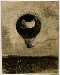 Ballard 2 - Redon.jpg 832×1033 pixels #illustration #redon #drawing #painting