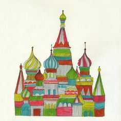 Russian Cathedral #russia #line #color