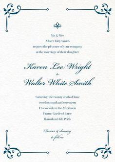 Vintage Cobalt - Wedding Invitations #paperlust #weddinginvitation #weddinginspiration #design #paper #card #print #letterpress #digitalcar