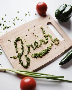 green onion lettering